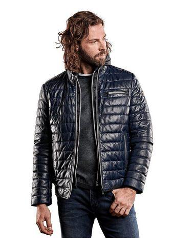 Куртка кожаная с Nylonkapuze