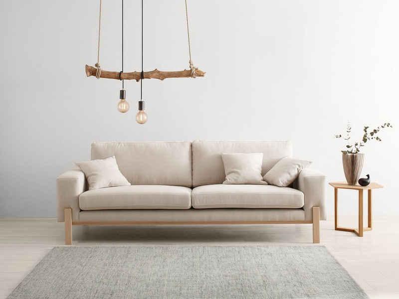 OTTO products 3-Sitzer »Hanne«, Bezug aus natürlichen Materialien: Baumwolle und Leinen
