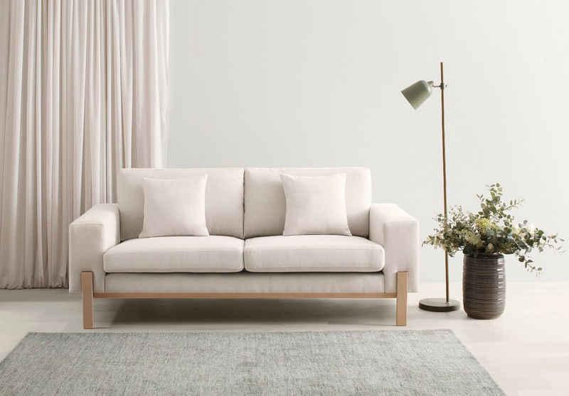 OTTO products 2-Sitzer »Hanne«, Bezug aus natürlichen Materialien: Baumwolle und Leinen