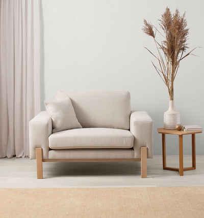 OTTO products Loveseat »Hanne«, Bezug aus natürlichen Materialien: Baumwolle und Leinen