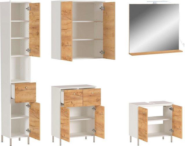 Badezimmer Sets - GERMANIA Badmöbel Set »GW Dallas«, (Set, 5 tlg)  - Onlineshop OTTO