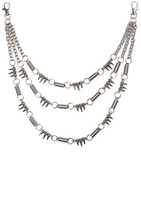 J.Jayz Hosenkette »mehrreihige Gliederkettengliederung, gunfarben« | Schmuck > Halsketten > Gliederketten | J.Jayz