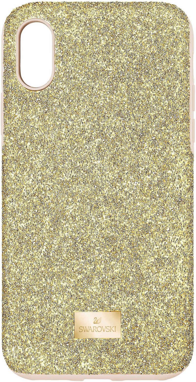 Swarovski Smartphone-Hülle »High Smartphone Schutzhülle mit integriertem Stoßschutz, iPhone® XS Max, goldfarben, 5533974« iPhone XS Max, mit Swarovski® Kristallen
