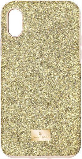 Swarovski Smartphone-Hülle »High Smartphone Schutzhülle mit integriertem Stoßschutz, iPhone® XS Max, goldfarben, 5533974« Apple iPhone XS Max, mit Swarovski® Kristallen