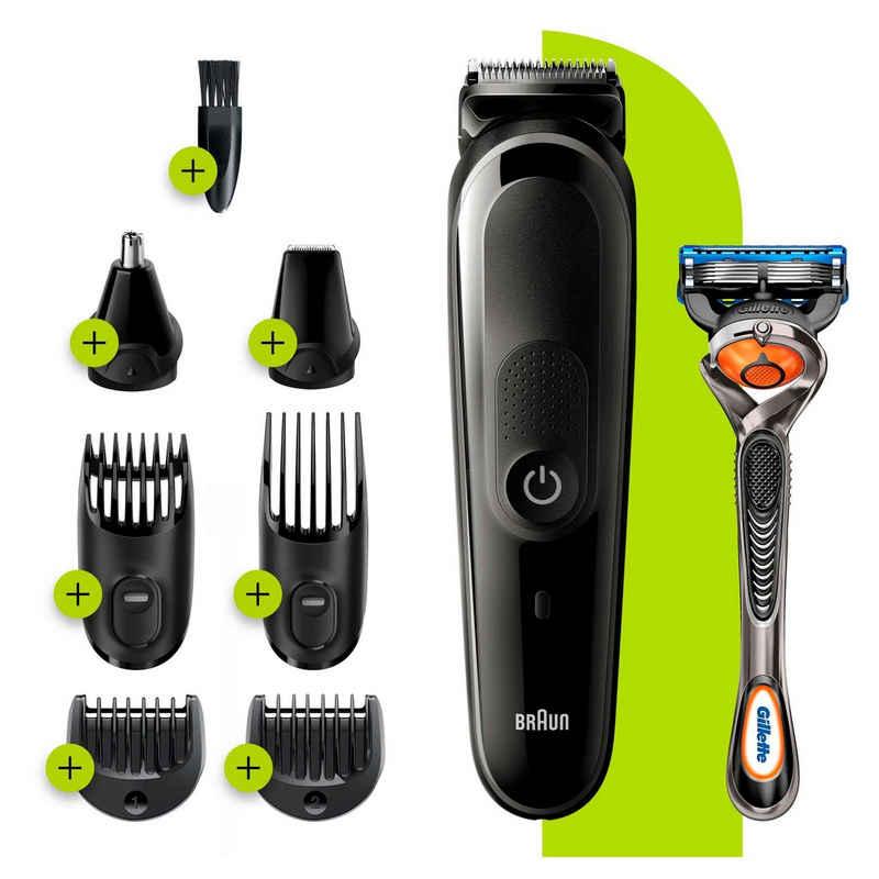 Braun Multifunktionstrimmer 8-in-1 Multi-Grooming-Kit 5 MGK5260, Gesichtshaartrimmer, Barttrimmer und Haarschneider für Herre