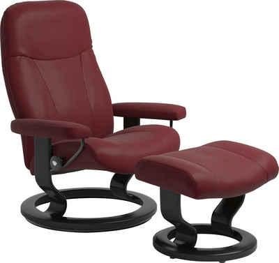 Stressless® Relaxsessel »Garda« (Set, Relaxsessel mit Hocker), mit Hocker, mit Classic Base, Größe L, Gestell Schwarz