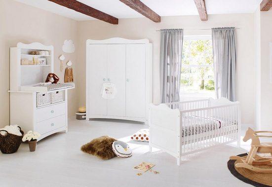 Pinolino® Babyzimmer-Komplettset »Florentina«, breit groß mit Regalaufsatz