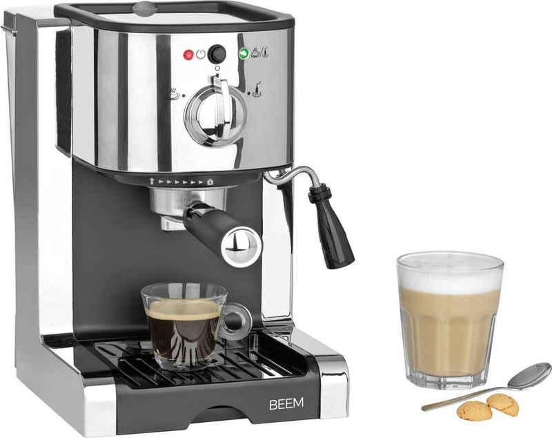BEEM Siebträgermaschine Espresso-Perfect, Permanentfilter, inkl. Kaffeekapsel Einsatz