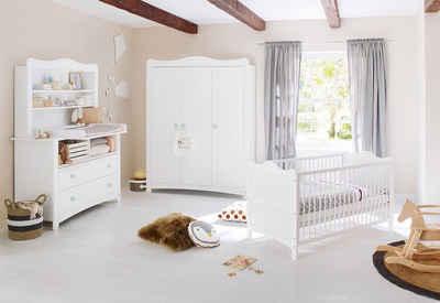 Pinolino® Babyzimmer-Komplettset »Florentina«, (Set, 4-St), extrabreit groß mit Regalaufsatz; Made in Europe
