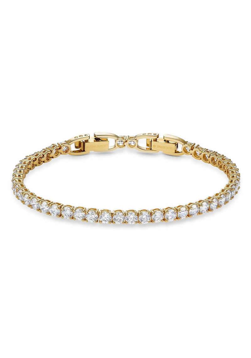 Swarovski Armband »Tennis Deluxe, weiss, vergoldet, 5511544«, mit Swarovski® Kristallen