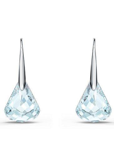Swarovski Paar Ohrhaken »Spirit, türkis, rhodiniert, 5529138«, mit Swarovski® Kristallen