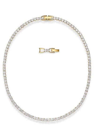 Swarovski Collier »Tennis Deluxe, weiss, vergoldet, 5511545«, mit Swarovski® Kristallen