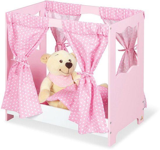 Pinolino® Puppenbett »Jasmin« (Set, 5tlg), inkl. Himmel