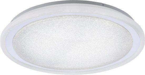Leuchten Direkt Deckenleuchte »MEDINA«, 1-flammig, CCT - Farbtemperaturregelung (verstellbar von 3000-5000K), Dimmbar über Fernbedienung, Serienschalter, Memoryfunktion, Sternenhimmeloptik