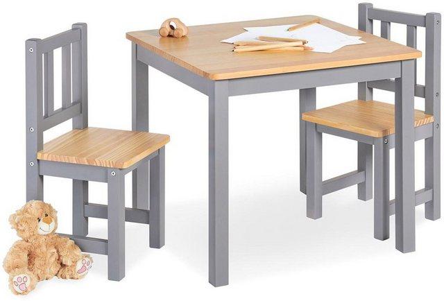 Sitzmöbel - Pinolino® Kindersitzgruppe »Fenna, grau natur«, (3 tlg)  - Onlineshop OTTO