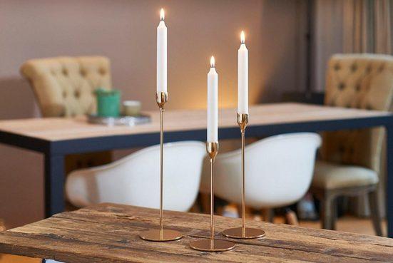 BOLTZE Kerzenhalter »Malte« (Set  3 Stück)