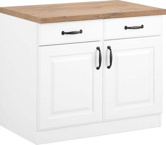 wiho Küchen Unterschrank »Erla« 100 cm breit mit Kassettenfront