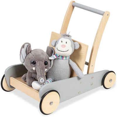 Pinolino® Lauflernwagen »Mats, grau«, aus Holz
