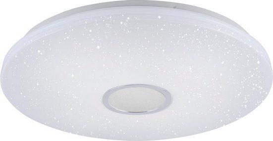 Leuchten Direkt Deckenleuchte »JONAS«, stufenloses Dimmen über IR-Fernbedienung, Sternenhimmeloptik, Memoryfunktion, Ø 59 cm