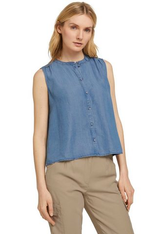 TOM TAILOR Jeansbluse iš Lyocell