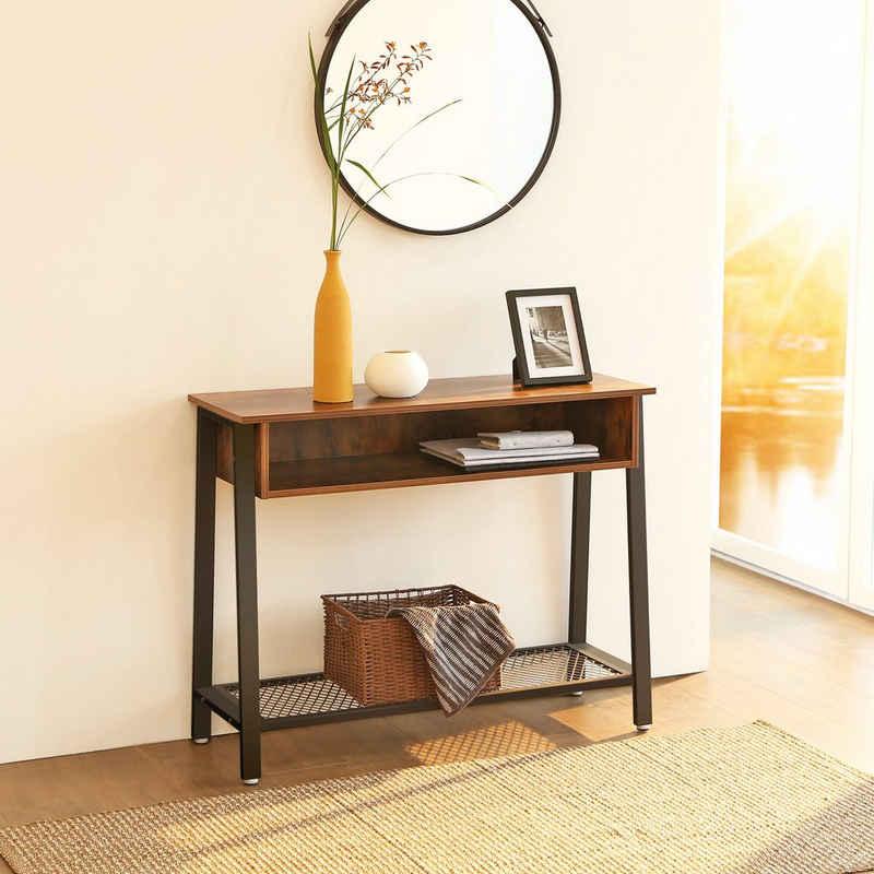 VASAGLE Konsolentisch »LNT93X«, Flurtisch, Sideboard, einfache Montage, Wohnzimmer, vintage