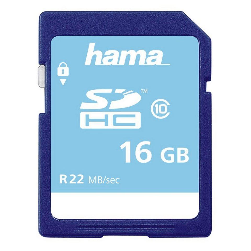 Hama Speicherkarte SDHC, 16GB, Class 10 »für Full-HD Videos geeignet« in Blau