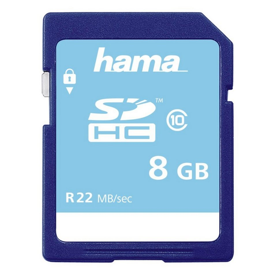 Hama Speicherkarte SDHC 8GB Class 10 »für Full-HD Videos geeignet« in Blau