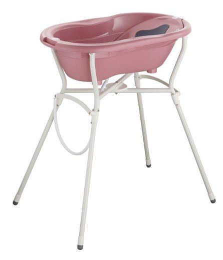 Rotho Babydesign Babywanne »Pflegeset mit Wannenständer, Mauve«