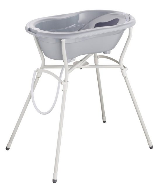 Badewannen und Whirlpools - Rotho Babydesign Badewanne »Pflegeset mit Wannenständer, Grey«, (4 tlg)  - Onlineshop OTTO