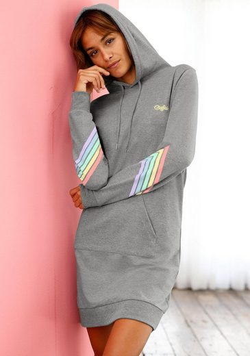 Buffalo Sweatkleid »Rainbow« mit buntem Streifendruck