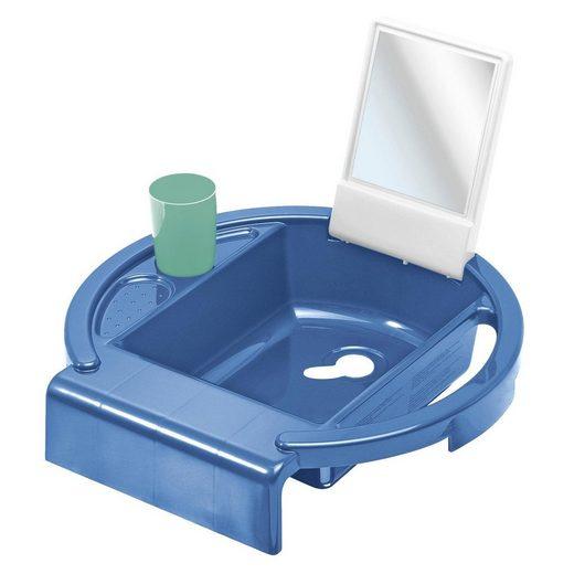 Rotho Babydesign Waschtischaufsatz »Kiddy Wash, blue/white/green«
