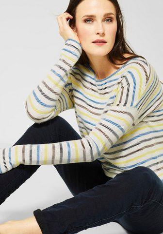 CECIL Пуловер в полоску