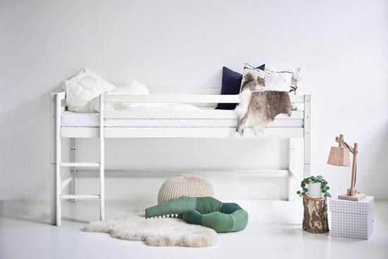 Hoppekids Hochbett »BASIC« (Set, Bett) umbaubar in ein Einzelbett