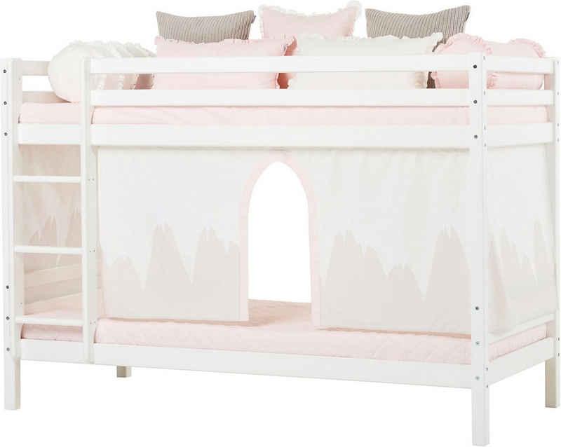 Hoppekids Etagenbett »Winter Wonderland« (Set, 4-St., Bett, Vorhang und zwei Matratzen)