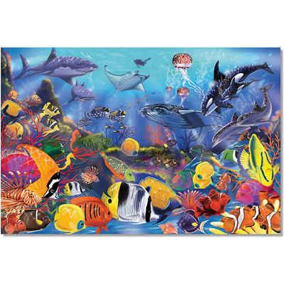 Melissa & Doug Puzzle »Fußbodenpuzzle - Unterwasserwelt, 48 Teile«, Puzzleteile