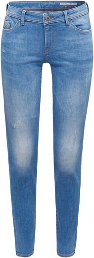 edc by Esprit Skinny-fit-Jeans mit tollen Washed-Out, Wrinkle- und Used Effekten