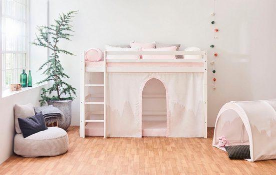 Hoppekids Hochbett »Winter Wonderland« (Set) umbaubar in ein Einzelbett