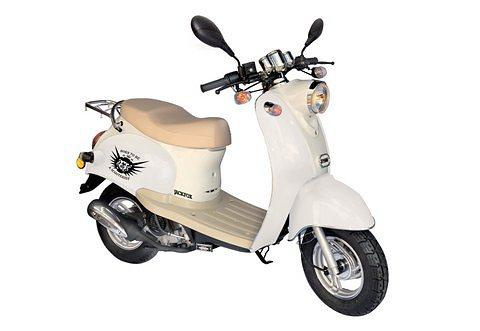 Retro-Mofarroller, Nova Motors, »Venezia II«, 50 ccm 25 km/h, weiß in weiß