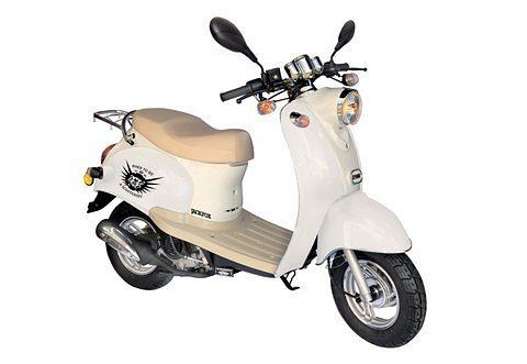 Retro-Motorroller, Nova Motors, »Venezia II-Mokick«, 50 ccm 45 km/h, weiß