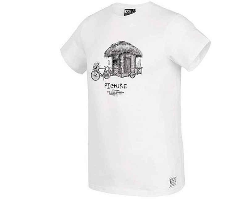 Picture T-Shirt »Picture Herren Dad & Son Bike T-Shirt weiß«