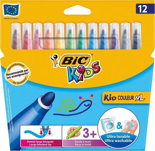 BIC Kids Dekorierstift »Kid Couleur XL Filzstifte, 12 Farben«