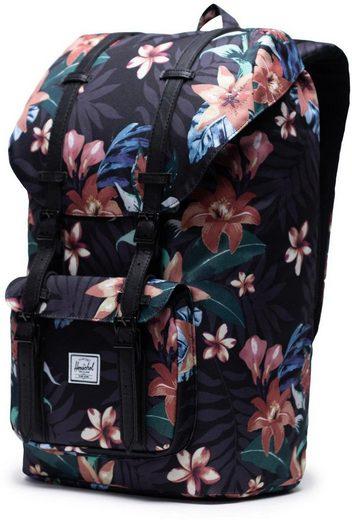 Herschel Laptoprucksack »Little America  Summer Floral Black«