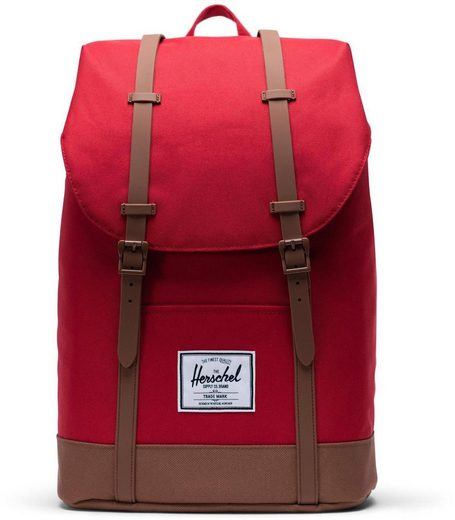 Herschel Laptoprucksack »Retreat - Red/Saddle Brown«