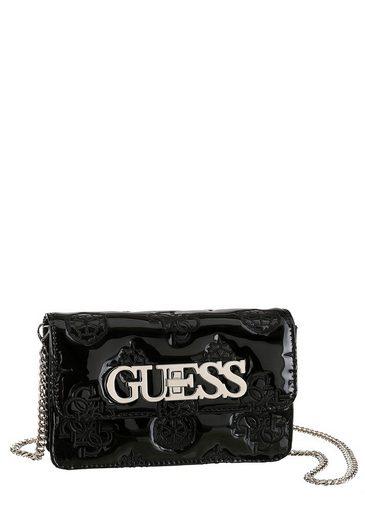 Guess Mini Bag »GUESS CHIC«, in glänzender Lack-Optik mit Kettendetails