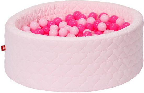 Knorrtoys® Bällebad »Cosy, heart rose«, mit 300 Bällen soft pink; Made in Europe