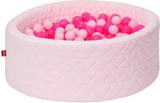 Knorrtoys® Bällebad »Cosy, heart rose«, mit 300 Bällen soft pink