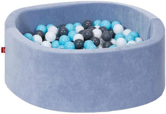 Knorrtoys® Bällebad »Soft, Blue«, mit 300 Bällen creme/grey/lightblue; Made in Europe