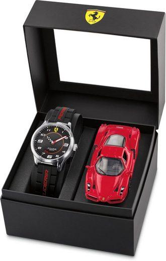 Scuderia Ferrari Quarzuhr »PITLANE, 870043«, (Set, 2-tlg., mit Modellauto)