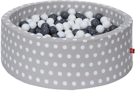 Knorrtoys® Bällebad »Soft, grey white dots«, mit 300 Bällen grey/creme; Made in Europe