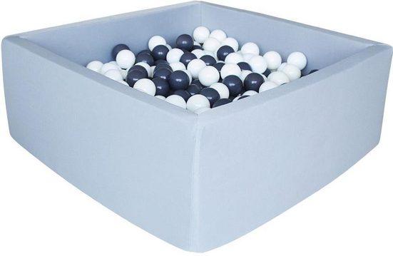 Knorrtoys® Bällebad »Grey«, mit 100 Bällen grey/white
